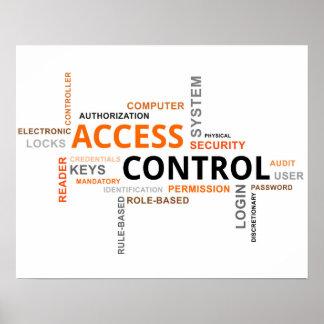 nube de la palabra - control de acceso póster