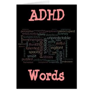 Nube de la palabra de ADHD Tarjeta Pequeña