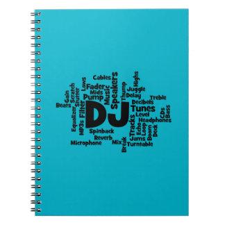 Nube de la palabra de DJ Spiral Notebook