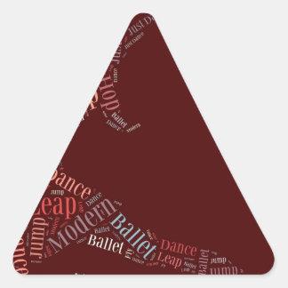 Nube de la palabra de la danza subió pegatina triangular