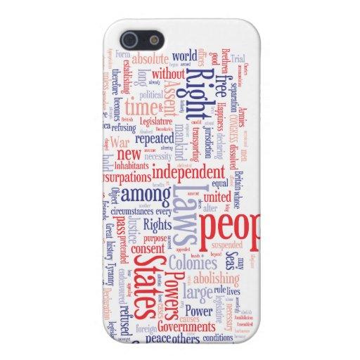 Nube de la palabra de la Declaración de Independen iPhone 5 Cobertura