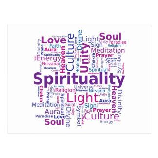 Nube de la palabra de la espiritualidad - rosa postal