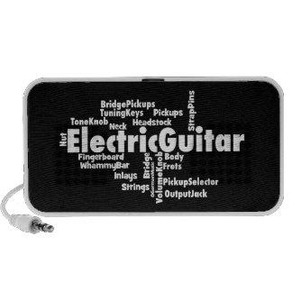 Nube de la palabra de la guitarra eléctrica iPod altavoz