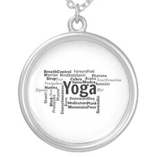Nube de la palabra de la yoga grímpola