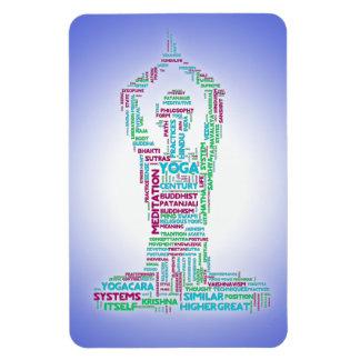 Nube de la palabra de la yoga imán rectangular