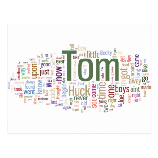 Nube de la palabra de Tom Sawyer Postal