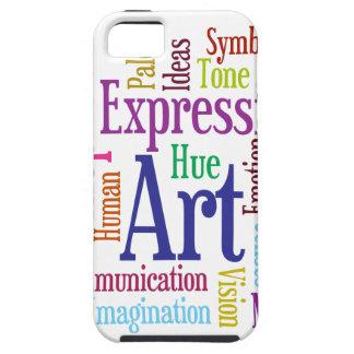 Nube de la palabra del arte y de la inspiración de iPhone 5 carcasa