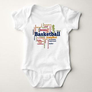 Nube de la palabra del baloncesto polera