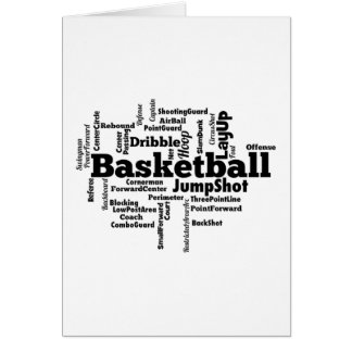 Nube de la palabra del baloncesto tarjetas