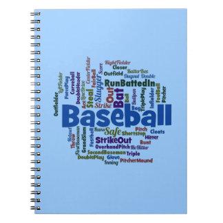Nube de la palabra del béisbol notebook