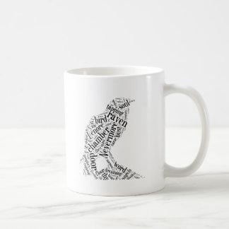 Nube de la palabra del cuervo taza de café