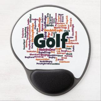 Nube de la palabra del golf alfombrilla gel