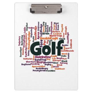 Nube de la palabra del golf