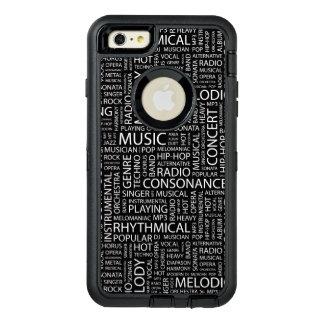 Nube de la palabra del modelo de la MÚSICA Funda Otterbox Para iPhone 6/6s Plus