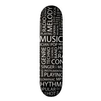 Nube de la palabra del modelo de la MÚSICA Skateboards