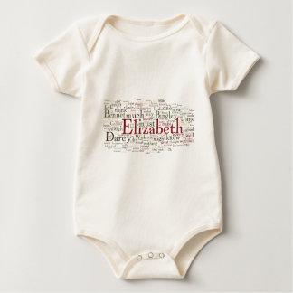 Nube de la palabra del orgullo y del perjuicio mameluco de bebé