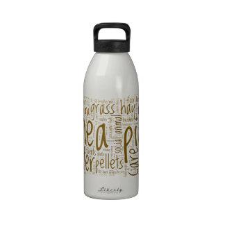 Nube de la palabra del recordatorio del cuidado de botellas de agua reutilizables