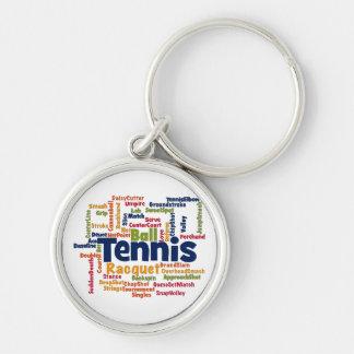 Nube de la palabra del tenis llaveros personalizados