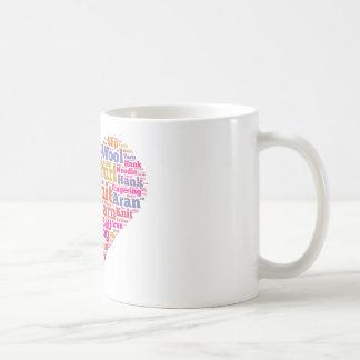 Nube de la palabra que hace punto taza básica blanca