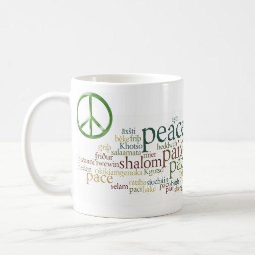 Nube de la paz tazas