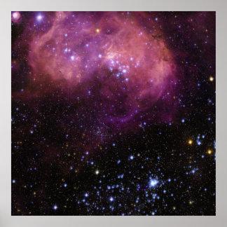Nube de la región N11 Magellanic de la formación e Póster