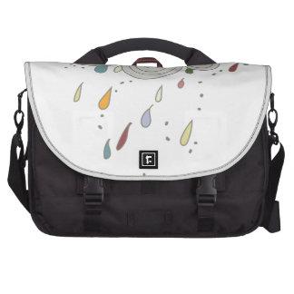 Nube de lluvia colorida bolsas para ordenador