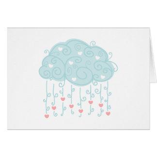 Nube de lluvia de la tarjeta del día de San