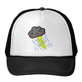 Nube de lluvia gorras de camionero