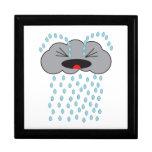 Nube de lluvia gritadora cajas de regalo