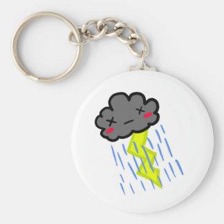 Nube de lluvia llavero redondo tipo pin