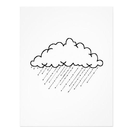 Nube de lluvia membrete
