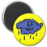 Nube de lluvia tonta iman de frigorífico