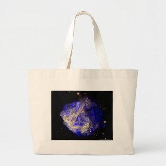 Nube de Magellanic grande azul Bolsa Tela Grande