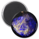 Nube de Magellanic grande azul Imanes De Nevera