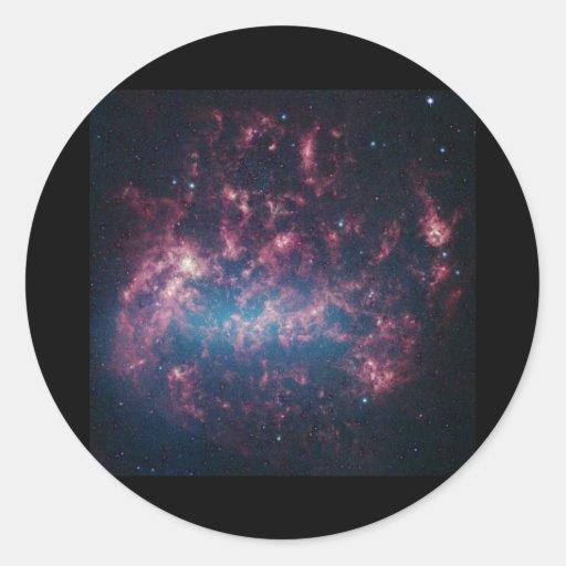 Nube de Magellanic grande Pegatina Redonda