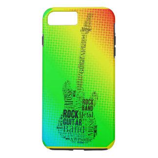 Nube de neón de la palabra de la guitarra de la funda iPhone 7 plus