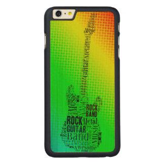 Nube de neón de la palabra de la guitarra de la funda para iPhone 6 de carved® de arce