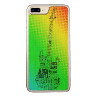 Nube de neón de la palabra de la guitarra de la funda para iPhone 7