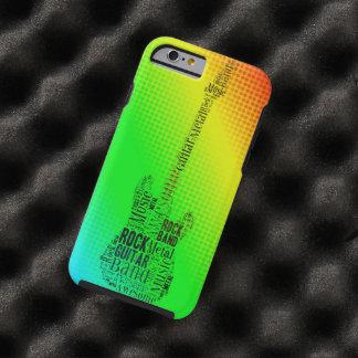 Nube de neón de la palabra de la guitarra de la funda resistente iPhone 6