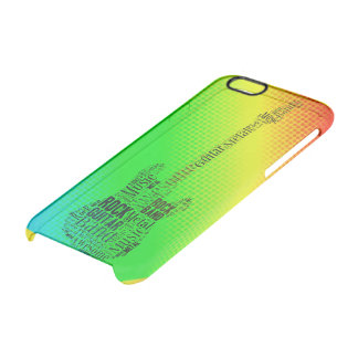 Nube de neón de la palabra de la guitarra de la funda transparente para iPhone 6/6S