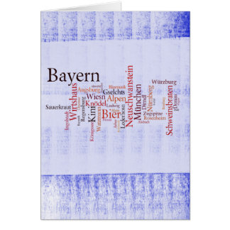 Nube de palabra word cloud Baviera Bavaria Felicitación