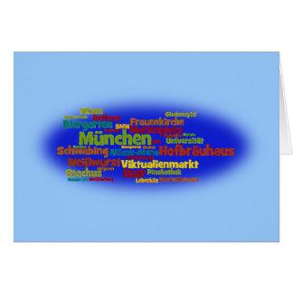 Nube de palabra word cloud Munich Muniquesas Tarjetón