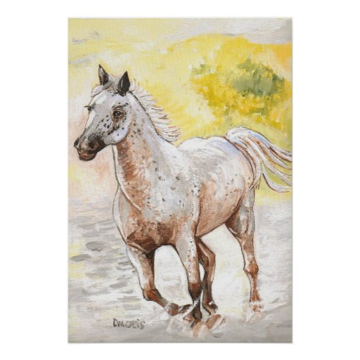 Nube de polvo manchada del caballo impresiones