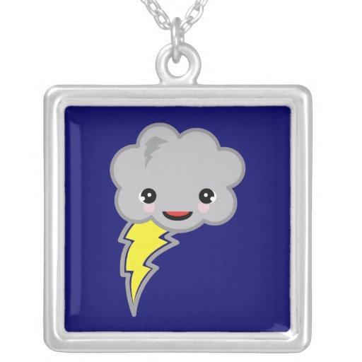 nube de tormenta del kawai pendiente personalizado
