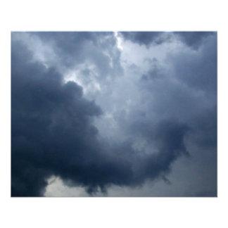 Nube de tormenta del tronco del elefante flyer personalizado