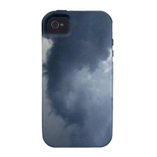 Nube de tormenta del tronco del elefante iPhone 4/4S carcasa