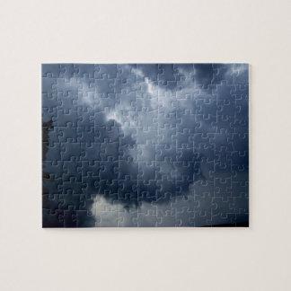 Nube de tormenta del tronco del elefante rompecabeza con fotos