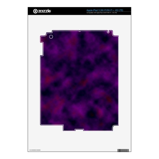 Nube del arándano de la uva iPad 3 skins