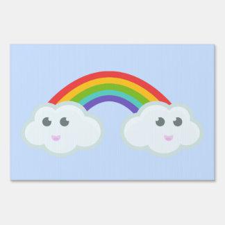 Nube del arco iris de Kawaii Letreros