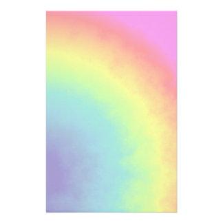 nube del arco iris papelería personalizada